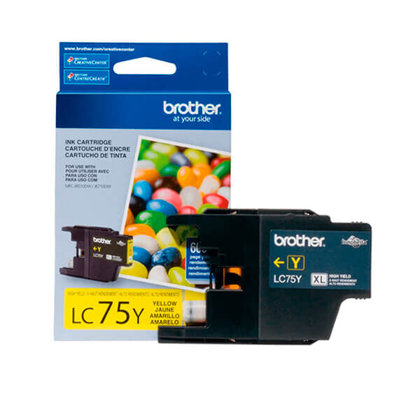Tinta Brother LC-75Y Yellow